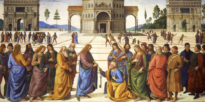 Pietro Perugino, The Delivery of the Keys (1481), Sistine Chapel, Rome